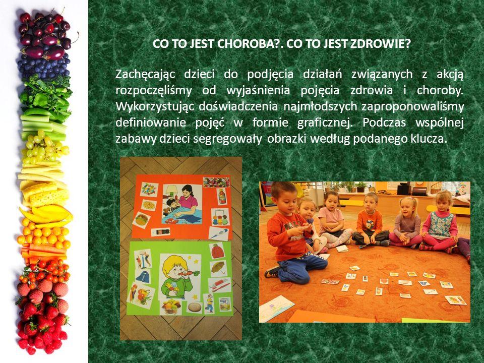 CO TO JEST CHOROBA?. CO TO JEST ZDROWIE? Zachęcając dzieci do podjęcia działań związanych z akcją rozpoczęliśmy od wyjaśnienia pojęcia zdrowia i choro