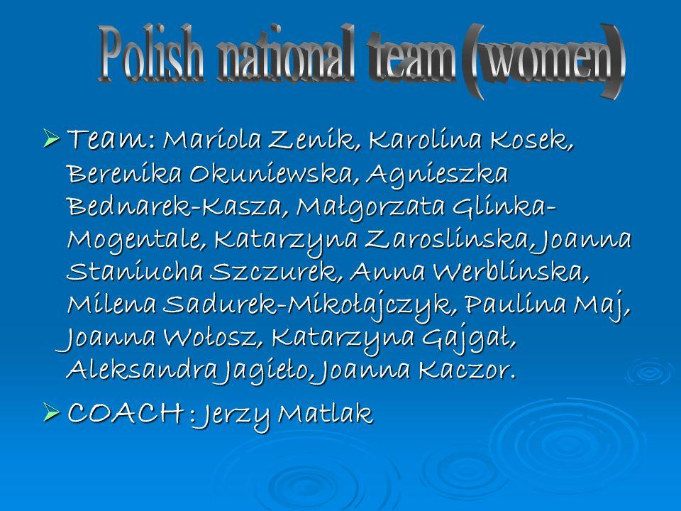 Team: Mariola Zenik, Karolina Kosek, Berenika Okuniewska, Agnieszka Bednarek-Kasza, Małgorzata Glinka- Mogentale, Katarzyna Zaroslinska, Joanna Staniu