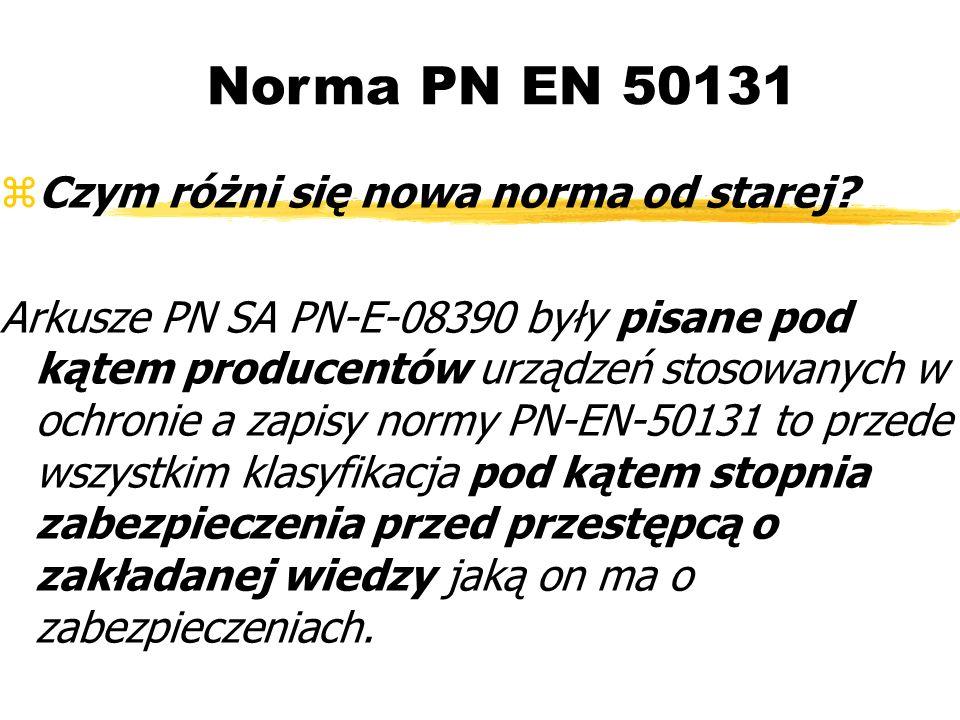 Norma PN EN 50131 Czym różni się nowa norma od starej.