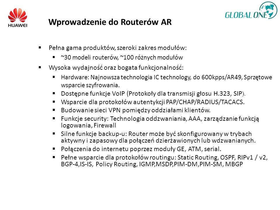 Pełna gama produktów, szeroki zakres modułów: ~30 modeli routerów, ~100 różnych modułów Wysoka wydajność oraz bogata funkcjonalność: Hardware: Najnowsza technologia IC technology, do 600kpps/AR49, Sprzętowe wsparcie szyfrowania.