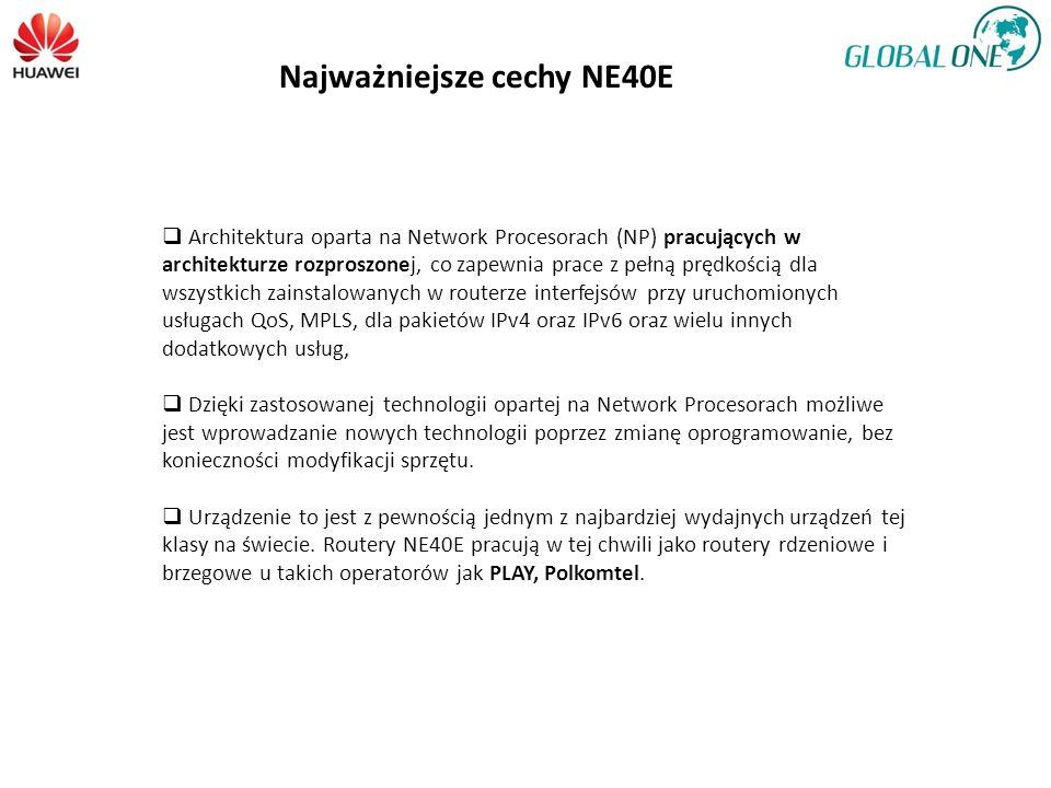 Architektura oparta na Network Procesorach (NP) pracujących w architekturze rozproszonej, co zapewnia prace z pełną prędkością dla wszystkich zainstalowanych w routerze interfejsów przy uruchomionych usługach QoS, MPLS, dla pakietów IPv4 oraz IPv6 oraz wielu innych dodatkowych usług, Dzięki zastosowanej technologii opartej na Network Procesorach możliwe jest wprowadzanie nowych technologii poprzez zmianę oprogramowanie, bez konieczności modyfikacji sprzętu.
