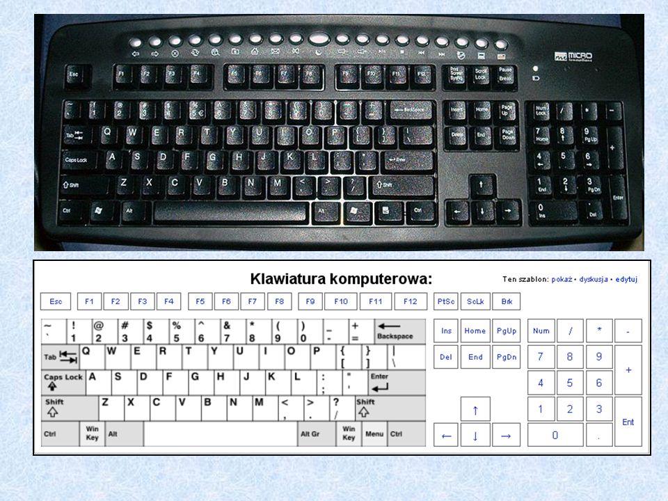 Tab, klawisz tabulacji lub tabulator - Wykorzystywany jest on do wstawiania tabulacji - przerwy, która służy do wyrównywania początku tekstu do określonej pionowej linii.