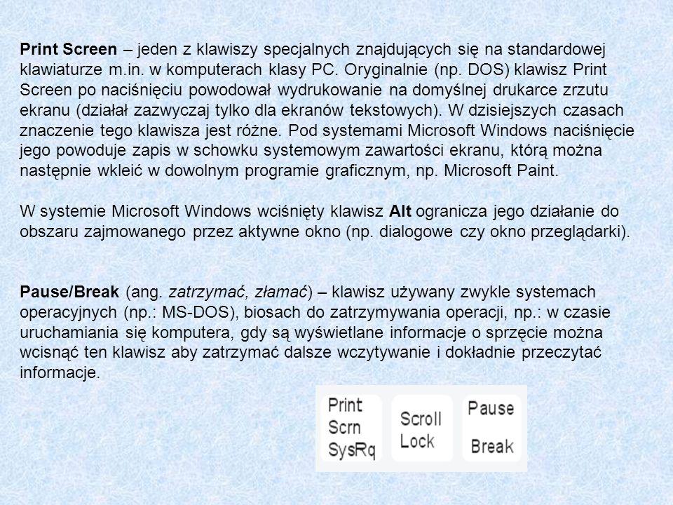 Print Screen – jeden z klawiszy specjalnych znajdujących się na standardowej klawiaturze m.in. w komputerach klasy PC. Oryginalnie (np. DOS) klawisz P