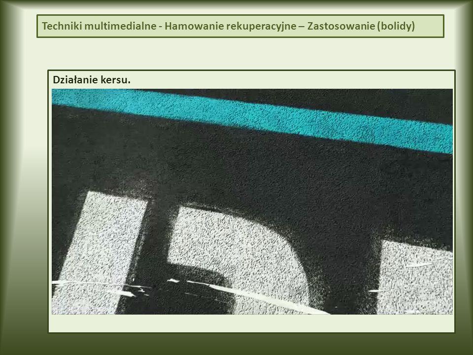 Działanie kersu. Techniki multimedialne - Hamowanie rekuperacyjne – Zastosowanie (bolidy)
