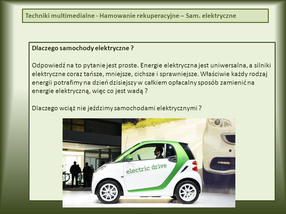 Dlaczego samochody elektryczne .Odpowiedź na to pytanie jest proste.
