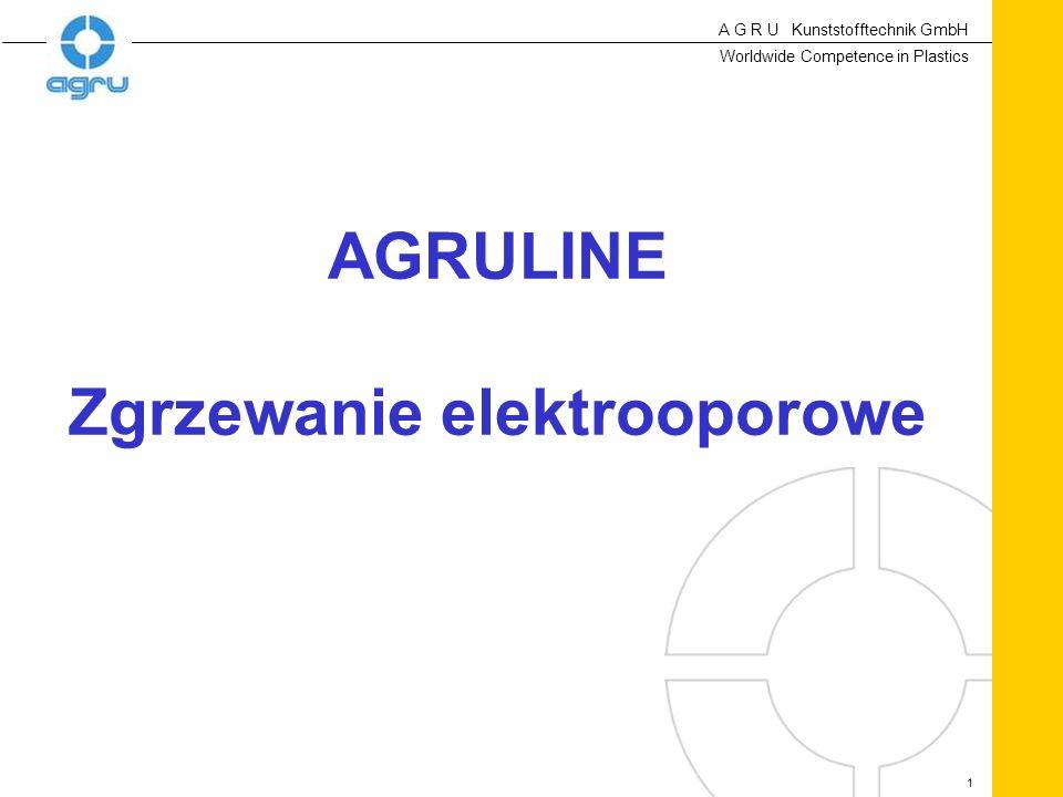 A G R U Kunststofftechnik GmbH Worldwide Competence in Plastics 1 AGRULINE Zgrzewanie elektrooporowe