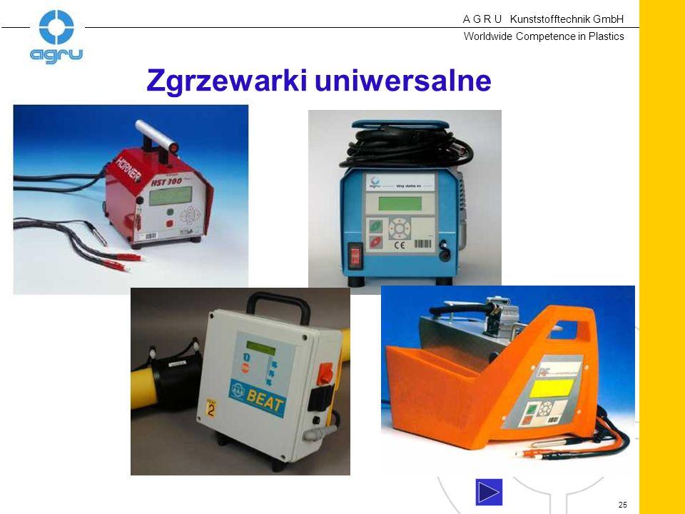 A G R U Kunststofftechnik GmbH Worldwide Competence in Plastics 25 Zgrzewarki uniwersalne