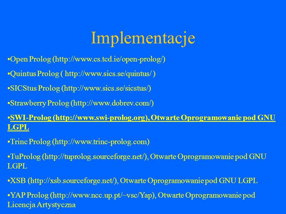 Zastosowanie Sztuczna inteligencja Dowodzenie twierdzeń Systemy ekspertowe NLP (Natural Language Processing) Dedukcyjne bazy danych Matematyka – przetwarzanie symboliczne