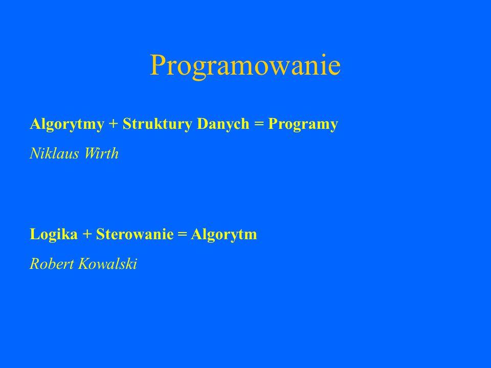 Programowanie Proceduralne C, Pascal,... Deklaratywne Prolog