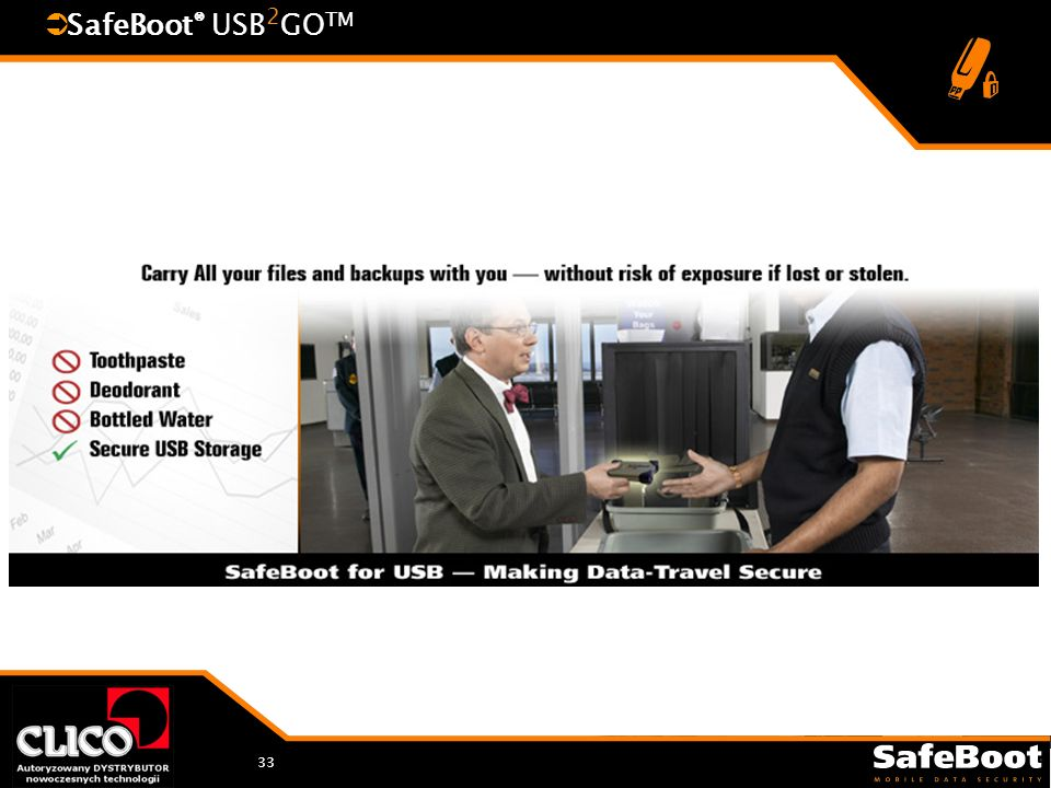 33 SafeBoot ® USB 2 GO TM