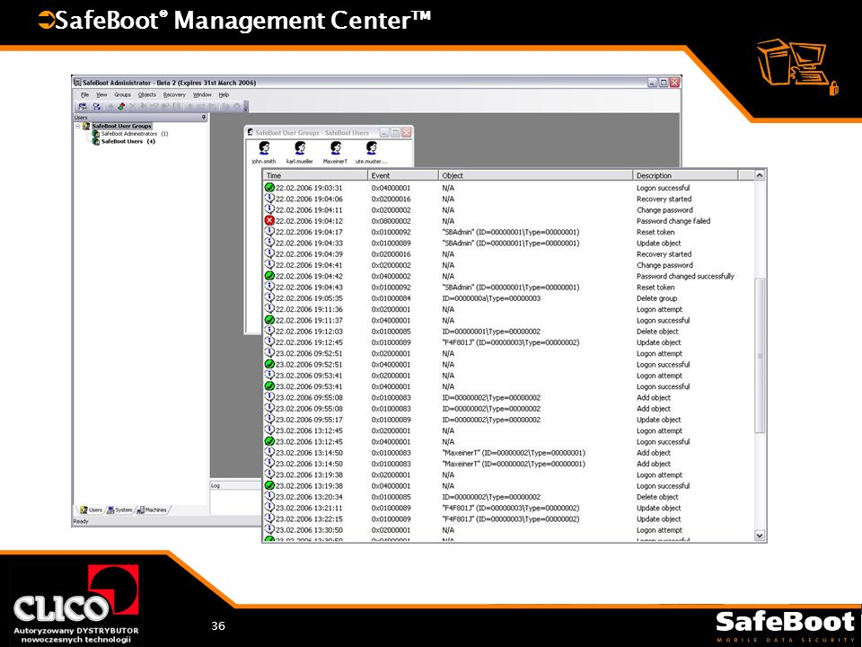 36 SafeBoot ® Management Center