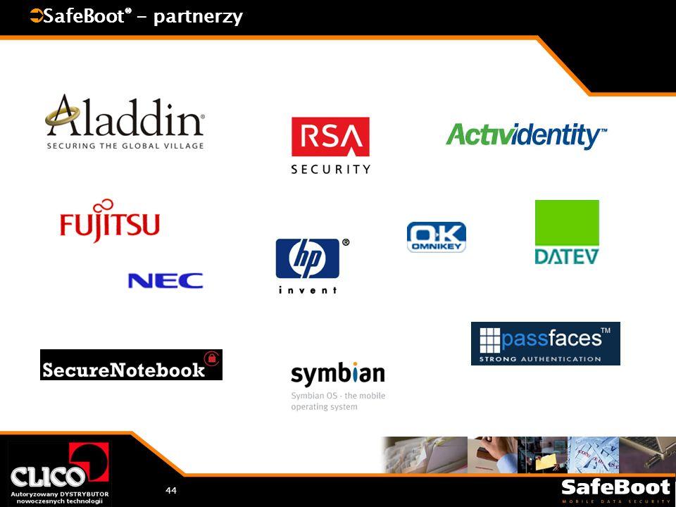 44 SafeBoot ® - partnerzy