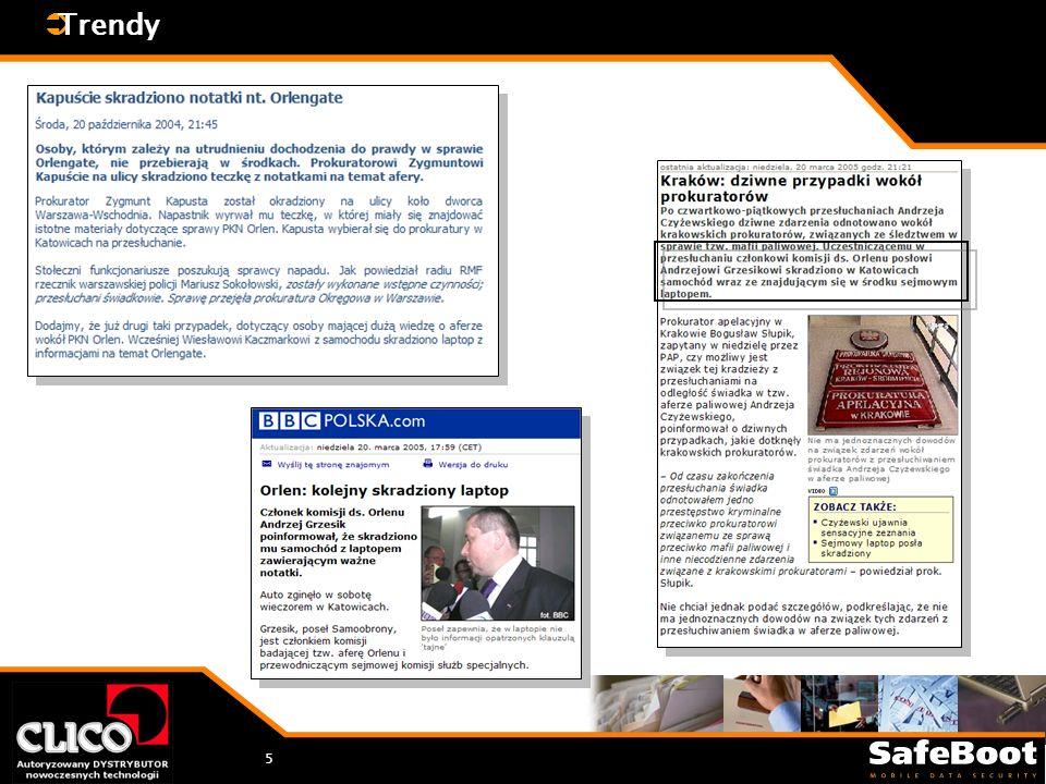 6 Bank na złomowisku Paweł Krawczyk Paweł Krawczyk (2005.02.17, CZW ) Dysk twardy z danymi tysiąca klientów banku Millenium trafił na gdańskie złomowisko, a tam został odkupiony przez studenta politechniki - donosi Super Express.