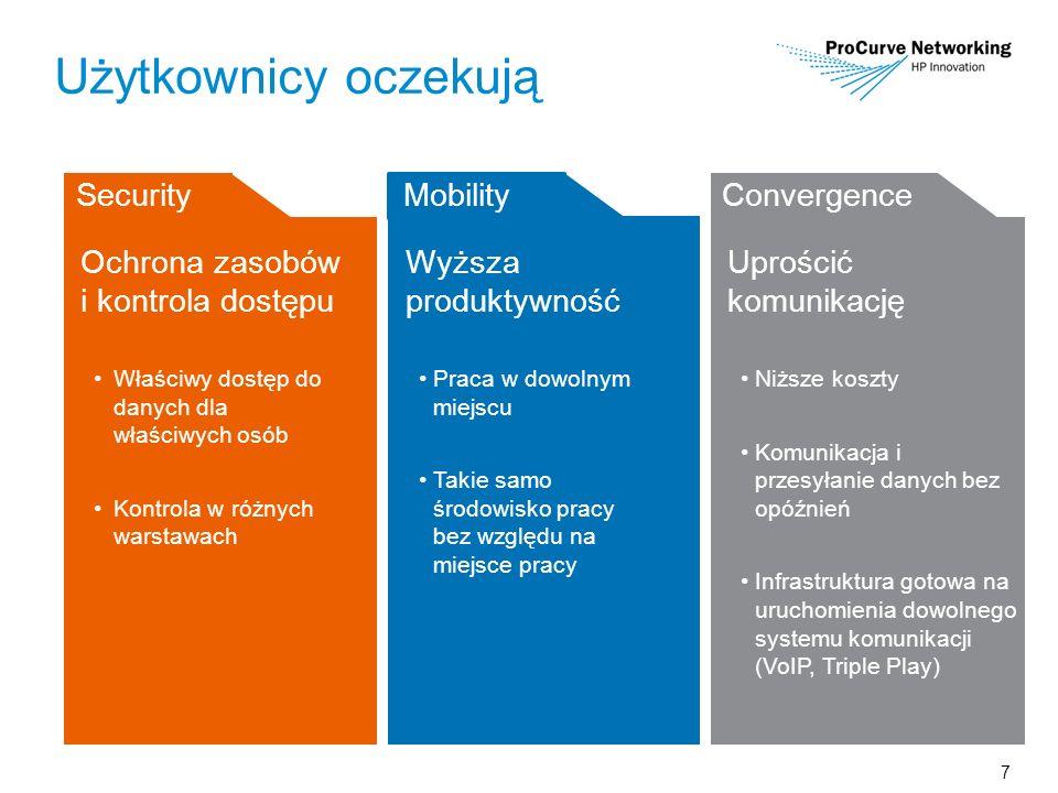 7 Użytkownicy oczekują Ochrona zasobów i kontrola dostępu Właściwy dostęp do danych dla właściwych osób Kontrola w różnych warstawach Wyższa produktyw