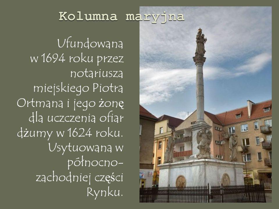 Ufundowana w 1694 roku przez notariusza miejskiego Piotra Ortmana i jego ż on ę dla uczczenia ofiar d ż umy w 1624 roku.