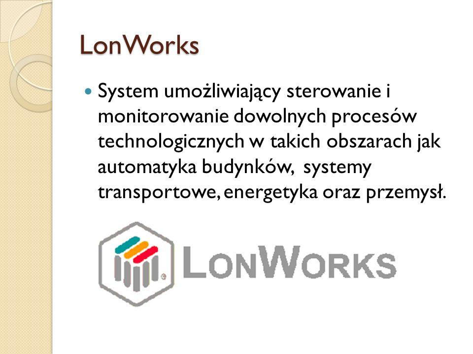 LonWorks System umożliwiający sterowanie i monitorowanie dowolnych procesów technologicznych w takich obszarach jak automatyka budynków, systemy trans