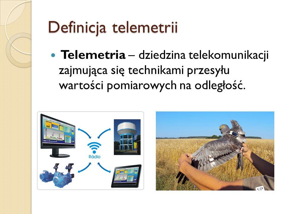 Główne zadania telemetrii Rejestracja wyników Obliczanie wartości średniej Opracowanie wyników Generacja sygnałów np.