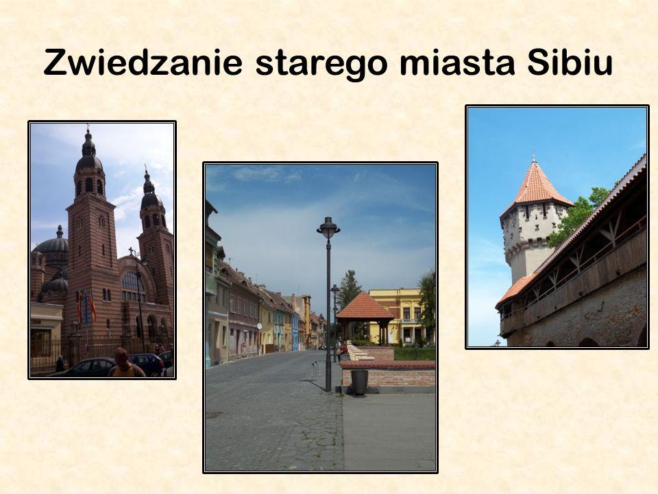 Zwiedzanie starego miasta Sibiu