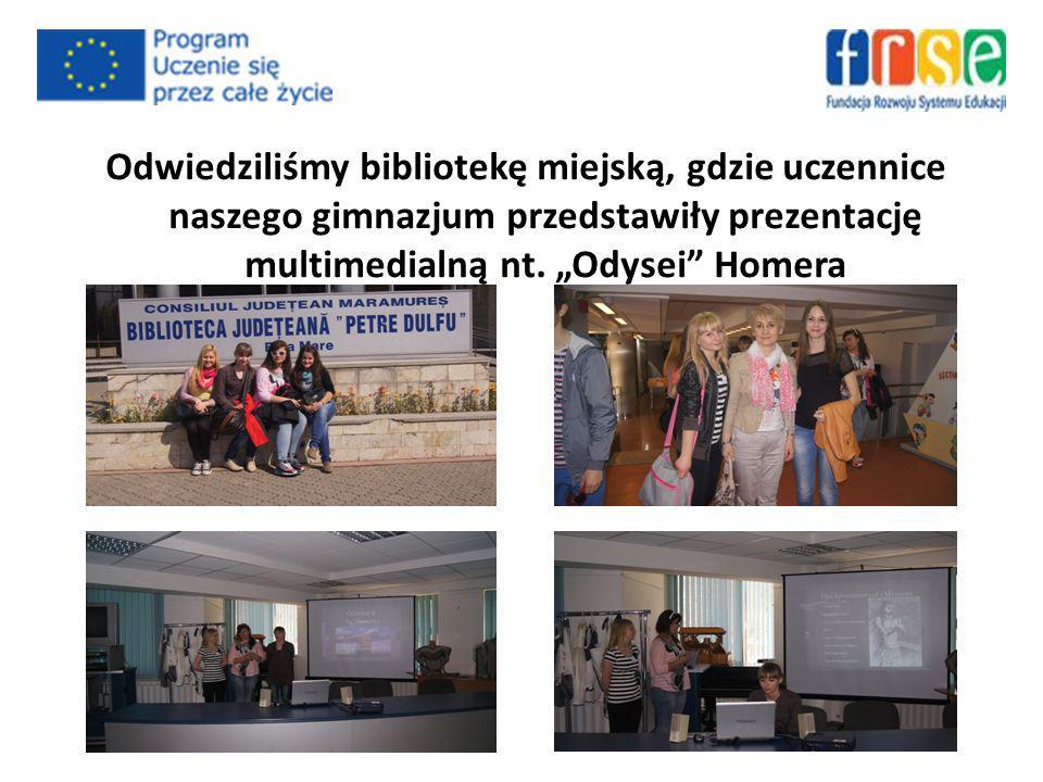 Odwiedziliśmy bibliotekę miejską, gdzie uczennice naszego gimnazjum przedstawiły prezentację multimedialną nt.