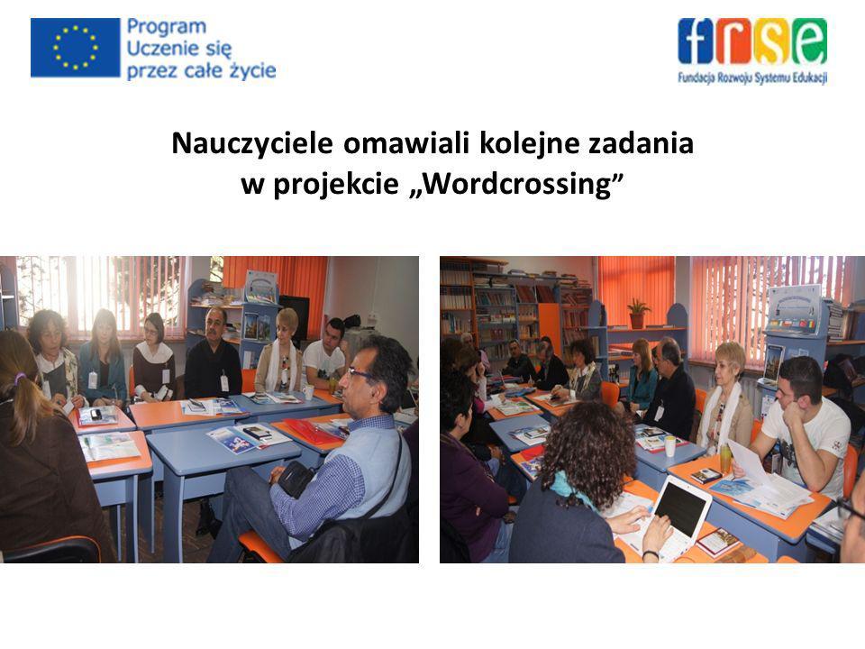 Nauczyciele omawiali kolejne zadania w projekcie Wordcrossing