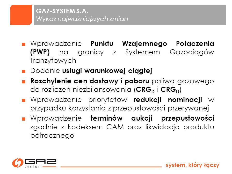 system, który łączy Zmiany w Instrukcji Ruchu i Eksploatacji Sieci Przesyłowej - system krajowy Warszawa, 24 września 2013