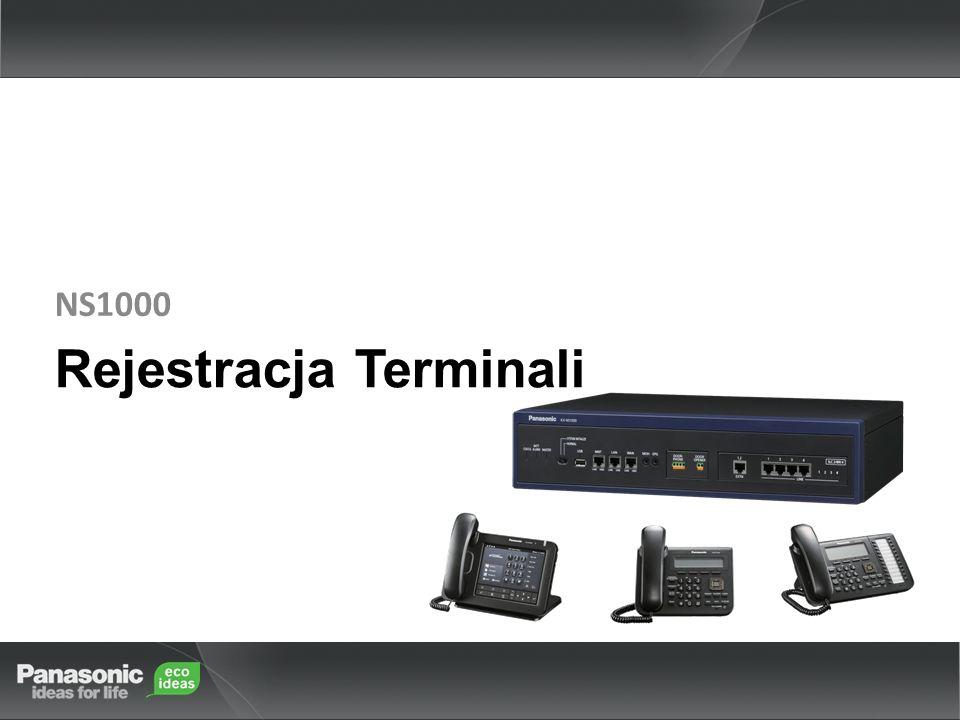 Rejestracja Terminali NS1000