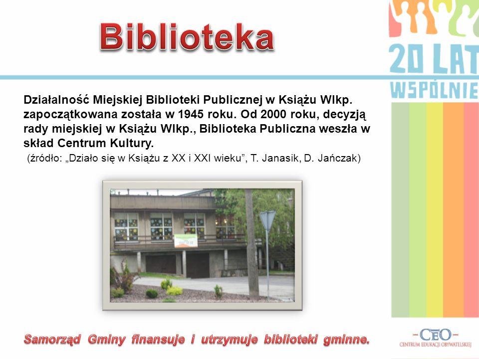 Działalność Miejskiej Biblioteki Publicznej w Książu Wlkp. zapoczątkowana została w 1945 roku. Od 2000 roku, decyzją rady miejskiej w Książu Wlkp., Bi