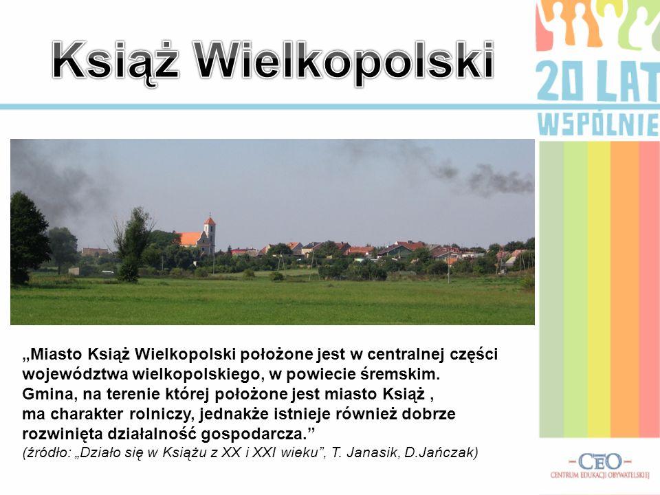 Miasto Książ Wielkopolski położone jest w centralnej części województwa wielkopolskiego, w powiecie śremskim. Gmina, na terenie której położone jest m
