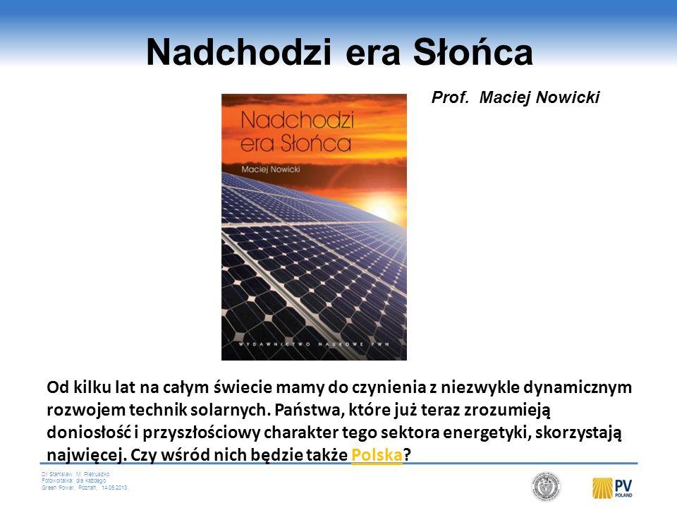 Dr Stanislaw M. Pietruszko Fotowoltaika: dla każdego Green Power, Poznań, 14.05.2013 14 projetów z Programów Ramowych Komisji Europejskiej BIPV-CIS, P