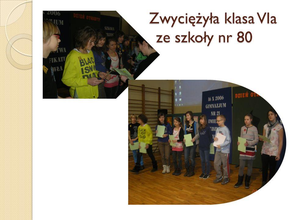 ZZ Zwyciężyła klasa VIa ze ze szkoły nr 80