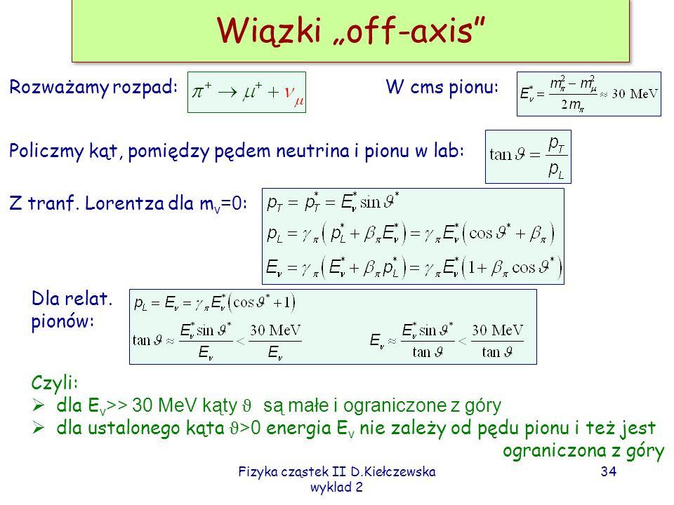 Fizyka cząstek II D.Kiełczewska wyklad 2 33
