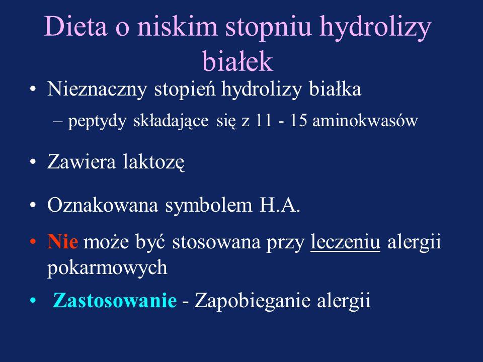 OSOBY ZDROWECHORE Diety mleczne (polimeryczne) laktozowe lub ubogolaktozowe Diety mleczne (polimeryczne) bezlaktozowe ubogolaktozowe z MCT zagęszczone