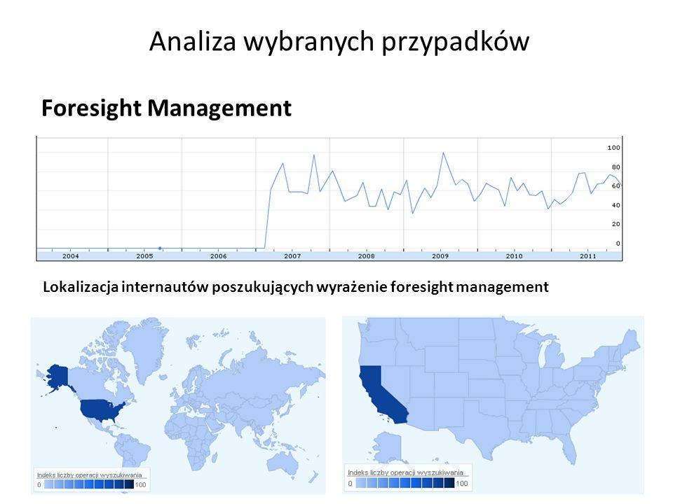 Analiza wybranych przypadków 24 Foresight Management Lokalizacja internautów poszukujących wyrażenie foresight management