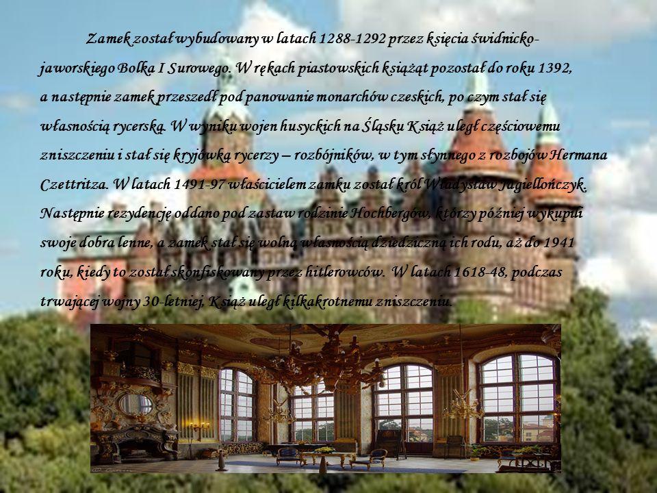 Zamek został wybudowany w latach 1288-1292 przez księcia świdnicko- jaworskiego Bolka I Surowego. W rękach piastowskich książąt pozostał do roku 1392,