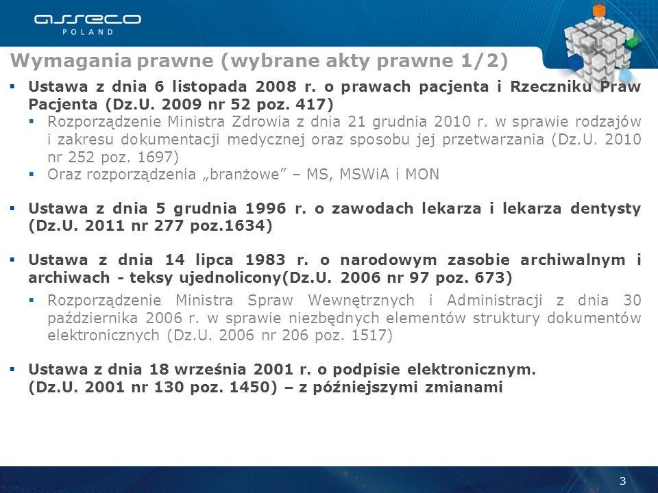 Warunki niezbędne do sukcesu EDM 2 Otoczenie Świadczeniodawca Asseco Poland S.A. Legislacja Standardy interoperacyjności Informatyzacja Procedury Zapl