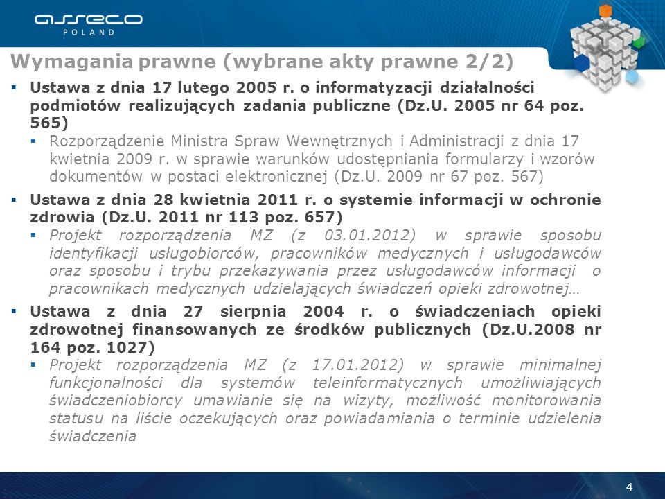 Ustawa z dnia 6 listopada 2008 r. o prawach pacjenta i Rzeczniku Praw Pacjenta (Dz.U. 2009 nr 52 poz. 417) Rozporządzenie Ministra Zdrowia z dnia 21 g