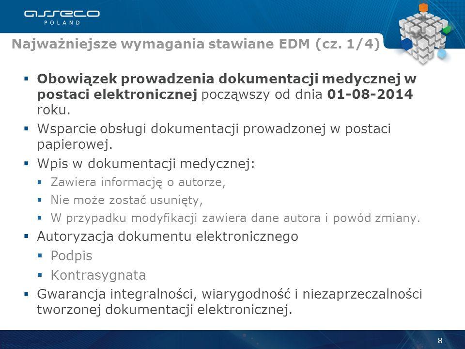Obowiązek prowadzenia dokumentacji medycznej w postaci elektronicznej począwszy od dnia 01-08-2014 roku.