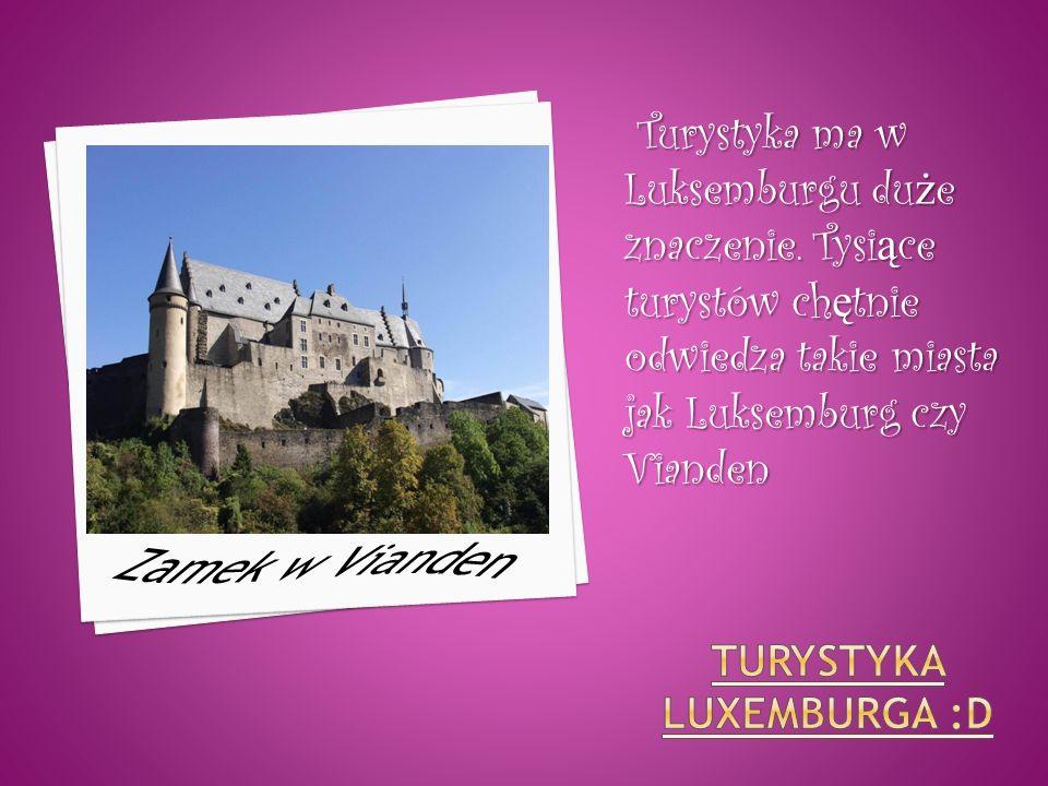 Turystyka ma w Luksemburgu du ż e znaczenie. Tysi ą ce turystów ch ę tnie odwiedza takie miasta jak Luksemburg czy Vianden Turystyka ma w Luksemburgu