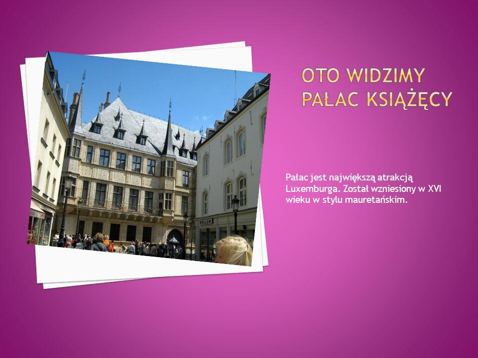 Pałac jest największą atrakcją Luxemburga. Został wzniesiony w XVI wieku w stylu mauretańskim.