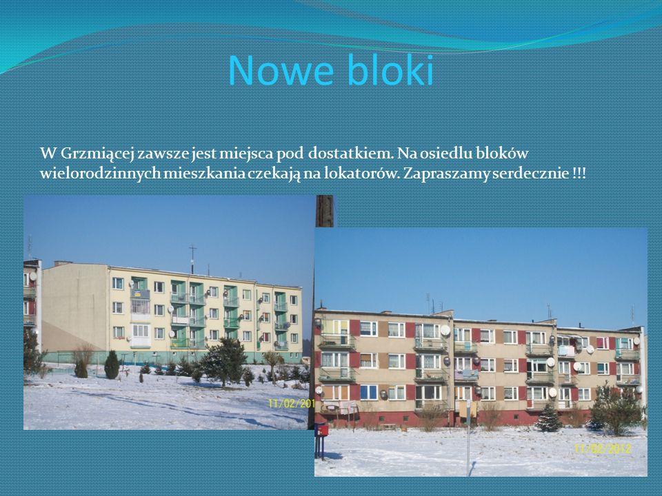Nowe bloki W Grzmiącej zawsze jest miejsca pod dostatkiem. Na osiedlu bloków wielorodzinnych mieszkania czekają na lokatorów. Zapraszamy serdecznie !!