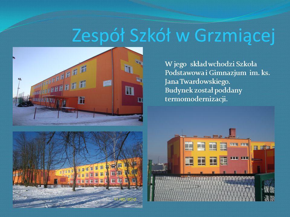 Zespół Szkół w Grzmiącej W jego skład wchodzi Szkoła Podstawowa i Gimnazjum im. ks. Jana Twardowskiego. Budynek został poddany termomodernizacji.