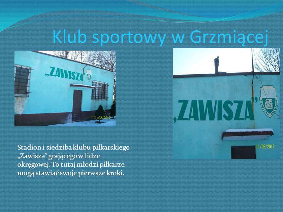 Klub sportowy w Grzmiącej Stadion i siedziba klubu piłkarskiego Zawisza grającego w lidze okręgowej. To tutaj młodzi piłkarze mogą stawiać swoje pierw