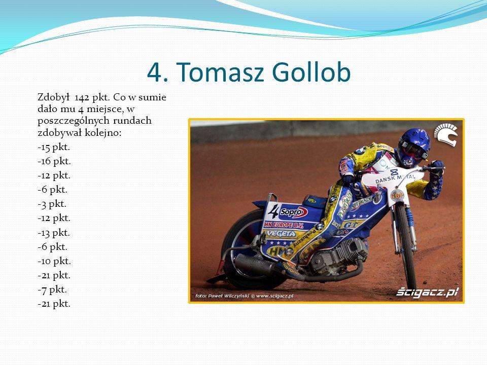 4. Tomasz Gollob Zdobył 142 pkt.