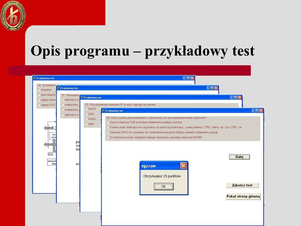 Narzędzia informatyczne wykorzystane w pracy dyplomowej Aplikacja powstała w środowisku Borland Delphi 7 opartym na języku Object Pascal Program zawiera dwie formy; formę główną oraz formę testu