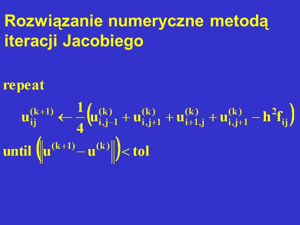 Rozwiązanie numeryczne metodą iteracji Jacobiego