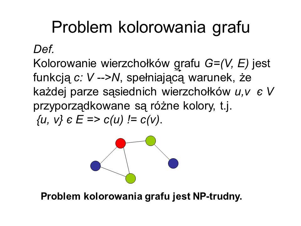 Krzyżowanie GPX (Galinier, Hao 1999) p ={1,8}{2,7}{3,10}{4,6}{5,9} r ={1}{2,8}{3,7,10}{4,9}{5,6} p ={1,8}{2,7}{3,10}{4,6}{5,9} r ={1}{3,10}{4,9}{5,6}{8} p ={1,8}{3,10}{5}{6} r ={1}{5,6}{8} p ={1,8} r = Φ s ={1,8}{2,7}{3,10}{4,9}{5,6} s ={1,8}{2}{3,7,10}{4,6}{5,9}