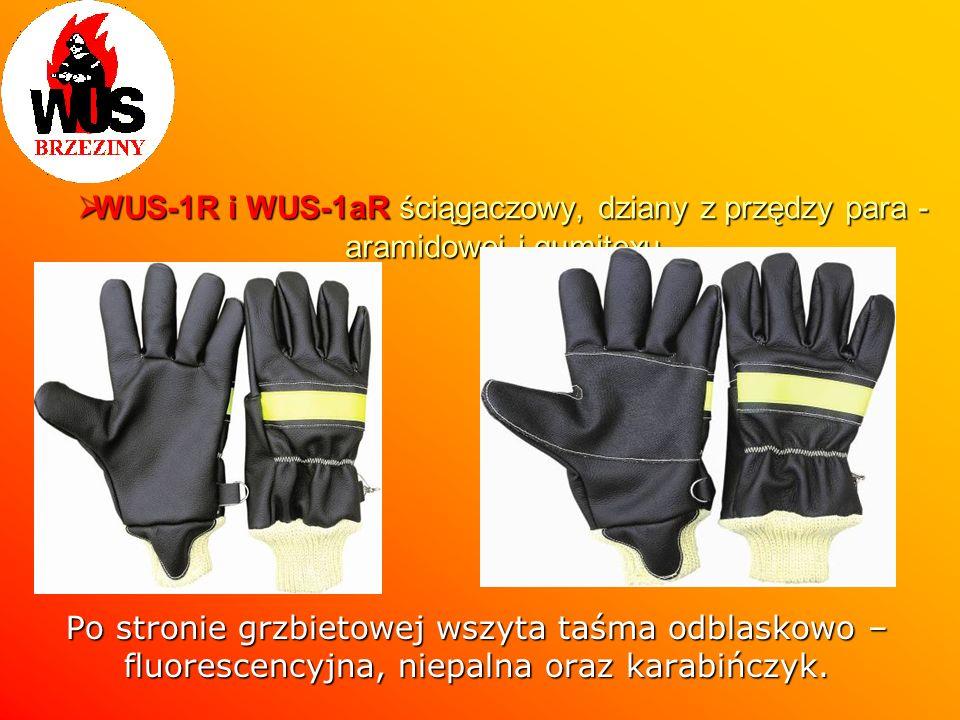 WUS-1R i WUS-1aR ściągaczowy, dziany z przędzy para - aramidowej i gumitexu WUS-1R i WUS-1aR ściągaczowy, dziany z przędzy para - aramidowej i gumitex