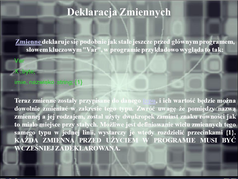Kolejnym elementem programu jest deklaracja modułów.