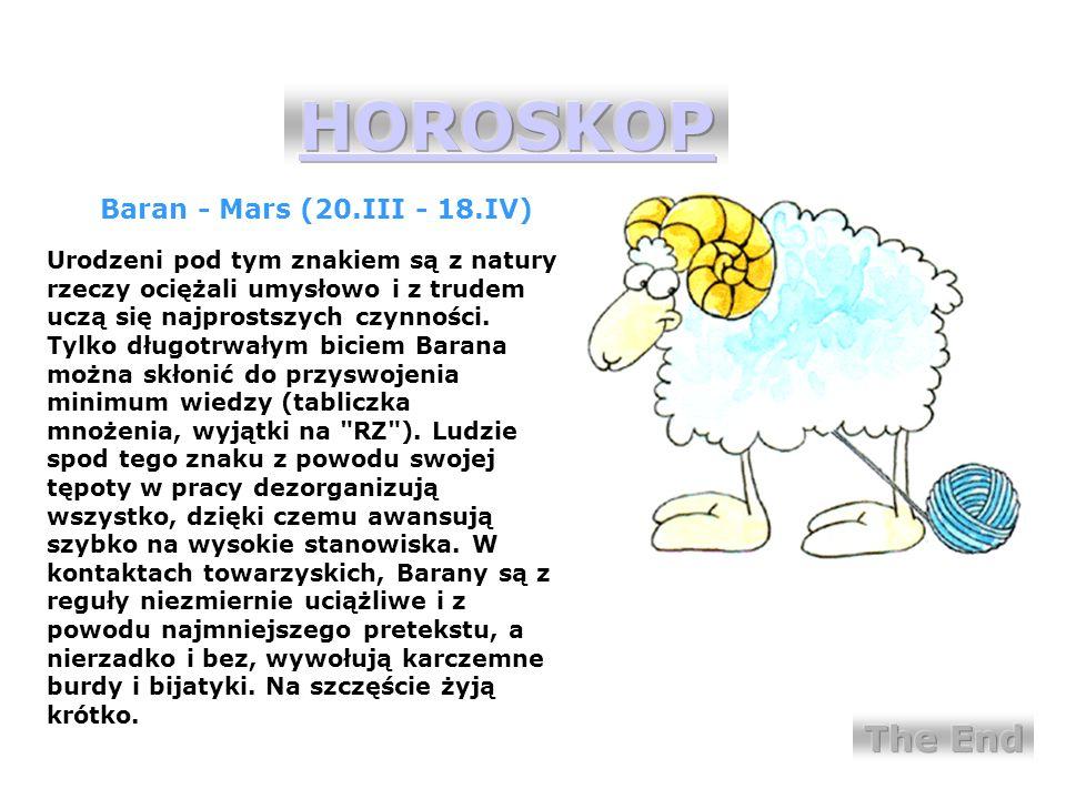 HOROSKOP inspiracja INDI: www.dowcipy.pl/hydepark
