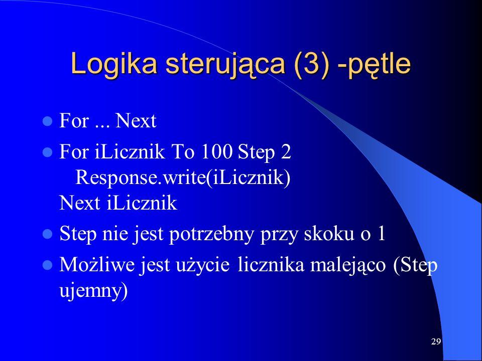 29 Logika sterująca (3) -pętle For...